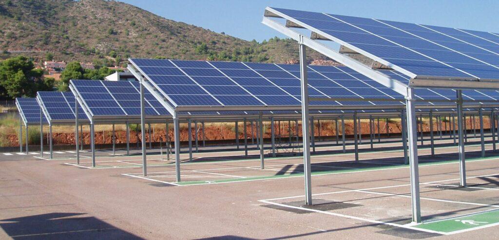 Pérgola solar fotovoltaica